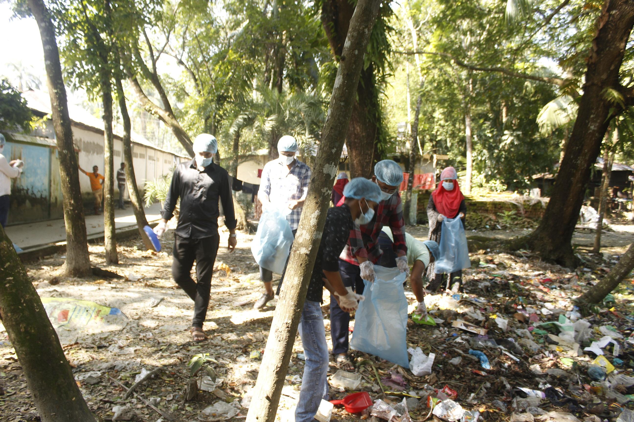 পরিচ্ছন্নতা অভিযানের মধ্য দিয়ে ভোলায় BD ক্লিনের যাত্রা