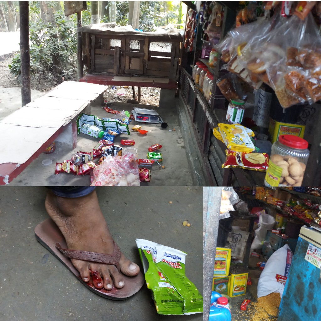 ভেদুরিয়ায় জমি দখল, দোকান ভাংচুর ॥ টাকা লুটের অভিযোগ
